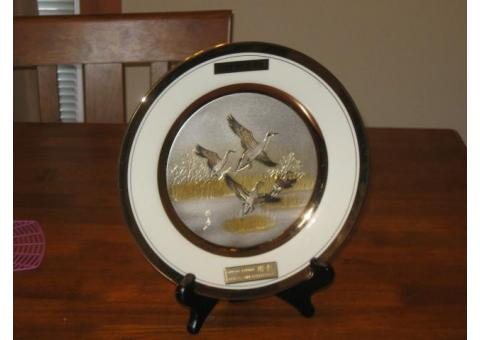 Original Chokin Collectible plate Limited Edition